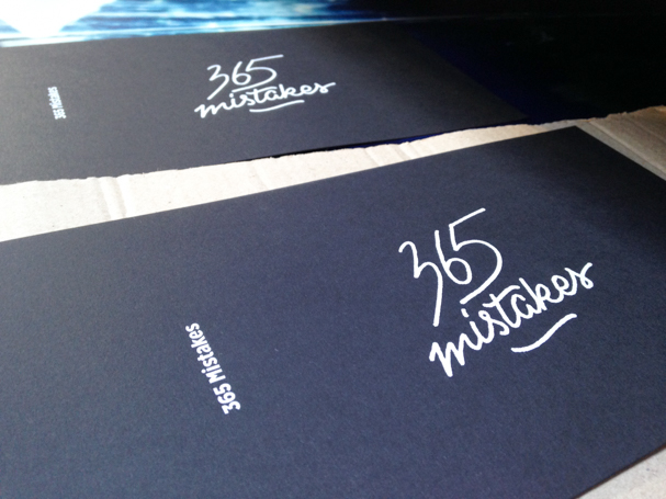 365 mistakes book lettering antonin + margaux